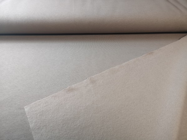 0,5m Sweat hellbraun, 65% Baumwolle, 35% Polyester