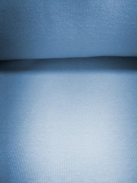0,5m Bündchen / Strickschlauch hellblau, 95% Baumwolle, 5% Elasthan