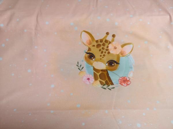 Jersey-Panel Cute Giraffe - 95% Baumwolle, 5% Elasthan