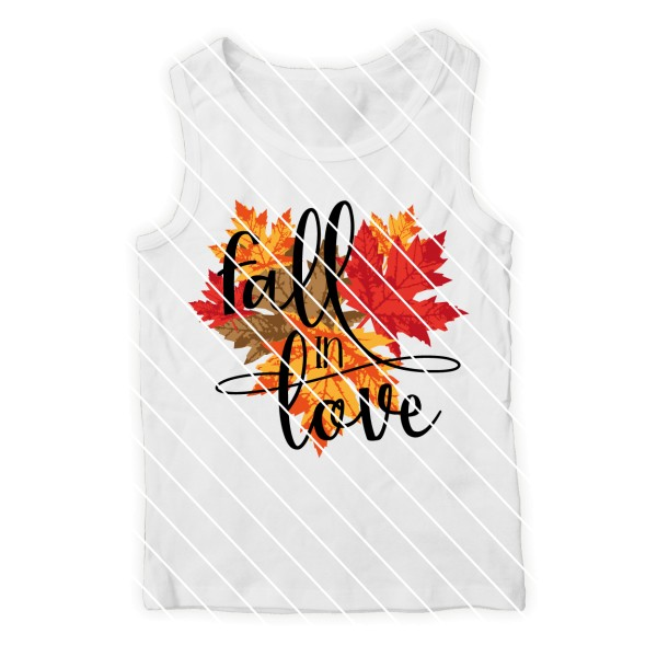 "Schneidedatei ""Fall in love"" SVG DXF"