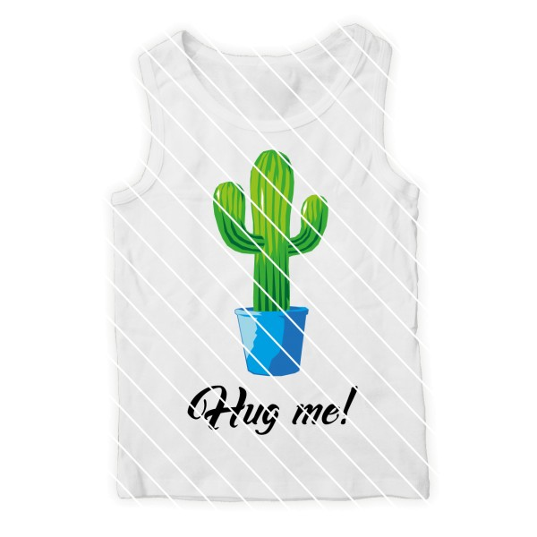 Schneidedatei Kaktus Hug me SVG DXF