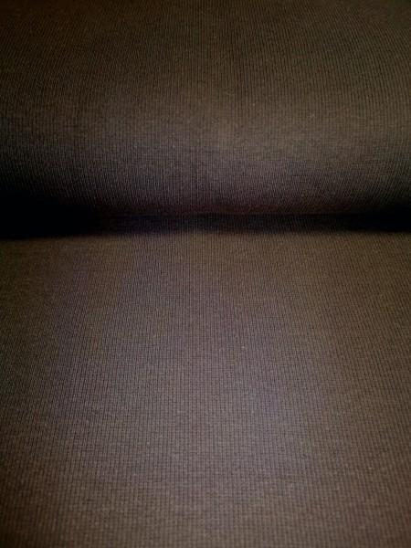 0,5m Bündchen / Strickschlauch dunkelbraun, 95% Baumwolle, 5% Elasthan