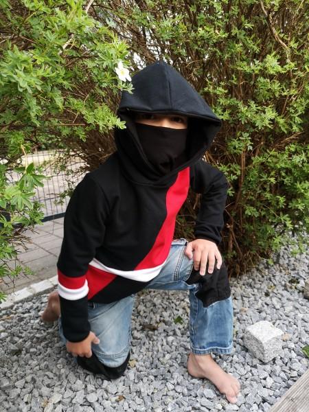 digitales Schnittmuster Ninja-Hoodie Kinder - Größe 86 - 170 - inkl. Drachenplott