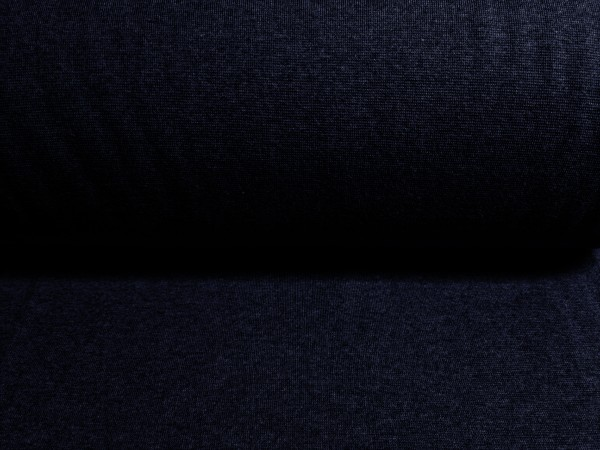 0,5m Bündchen / Strickschlauch dunkelblau, 95% Baumwolle, 5% Elasthan