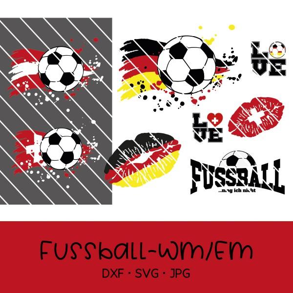 Plottdatei Set Fußball WM & EM 02 - 8-teilig