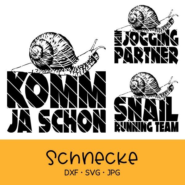 """Plotterdatei """"Schnecke"""" - 3-teilig"""