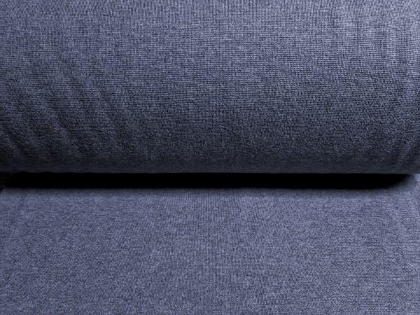 0,5m Bündchen / Strickschlauch rauchblau, 95% Baumwolle, 5% Elasthan