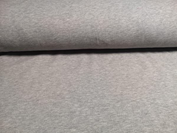 0,5m Sweat grau meliert, 70% Baumwolle, 30% Polyester
