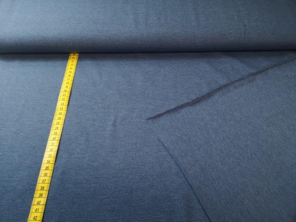 0,5m Jersey rauchblau, 95% Baumwolle, 5% Elasthan