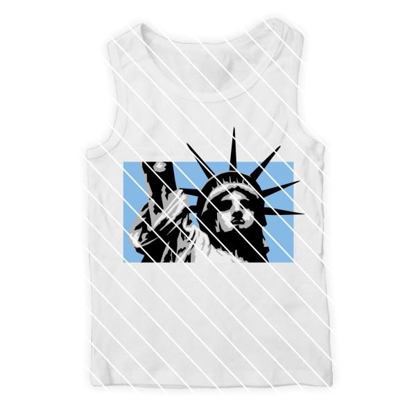 Plotterdatei New York Ausschnitt Freiheitsstatue