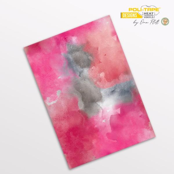 Flexfolie DIN A4 Aquarell Rosa - POLI-FLEX® Designs by Oma Plott