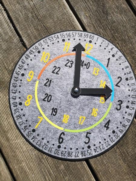 Plotterdatei Lernuhr - einfach Uhrzeit lernen