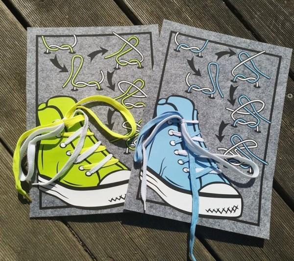 Plotterdatei Bindehilfe - einfach Schleife lernen - Sneaker mit Anleitung