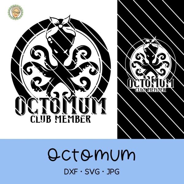Plotterdatei Oktopus - Octomum Club Member - 2 Varianten
