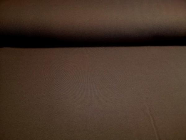 0,5m Sweat dunkelbraun, 80% Baumwolle, 20% Polyester