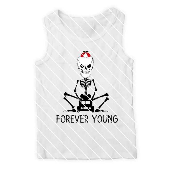 Schneidedatei Skelett forever young