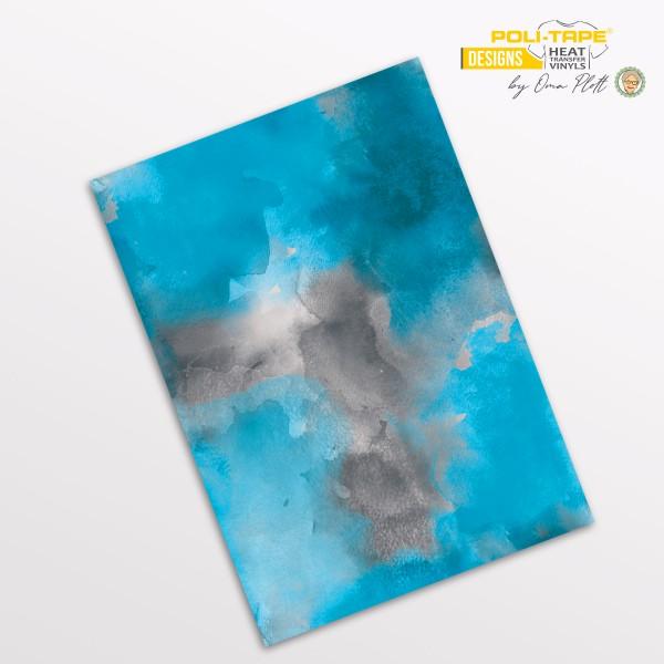 Flexfolie DIN A4 Aquarell blau - POLI-FLEX® Designs by Oma Plott