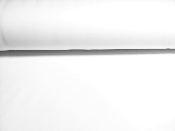 0,5m Sweat weiß, 70% Baumwolle, 30% Polyester