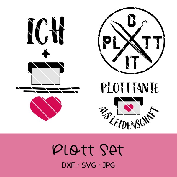 "Plotterdatei Set ""Plotten"" / Plotterliebe"