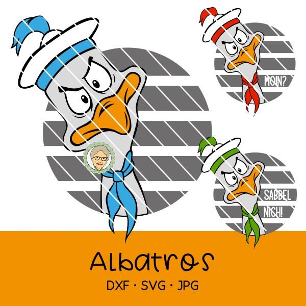Plotterdatei Albatros / Möwe - Sabbel nich! / Moin?
