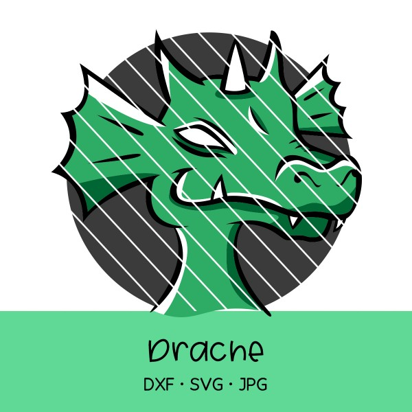 Plotterdatei Drache - 5-farbig