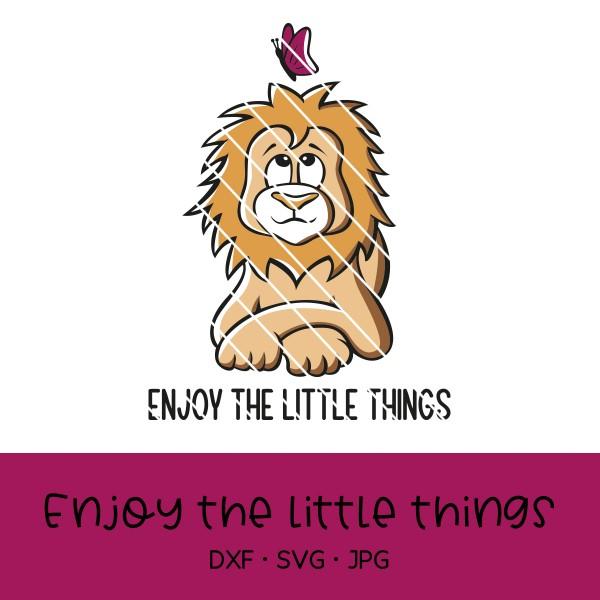 "Plotterdatei Löwe ""Enjoy the little things"""