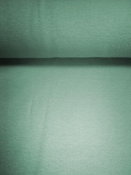 0,5m Bündchen / Strickschlauch Salbei Grün, 95% Baumwolle, 5% Elasthan