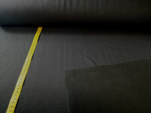 0,5m Sweat anthrazit/dunkelgrau, 65% Baumwolle, 35% Polyester