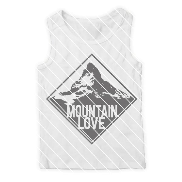 Plotterdatei Mountain Love für Männer