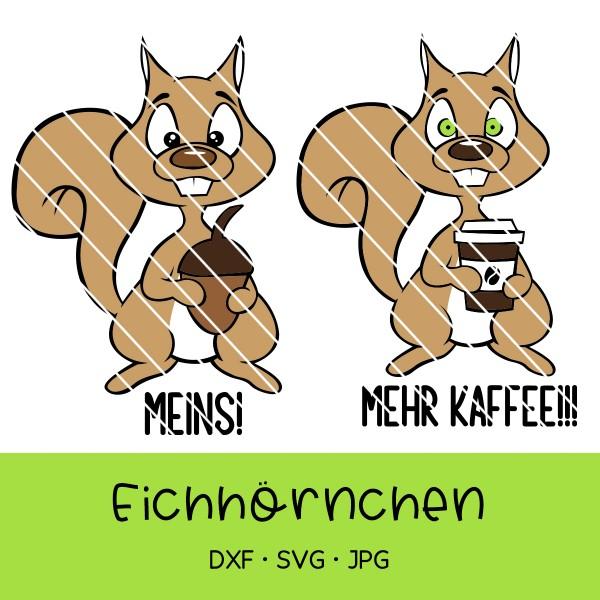 Plotterdatei Eichhörnchen - zwei Versionen