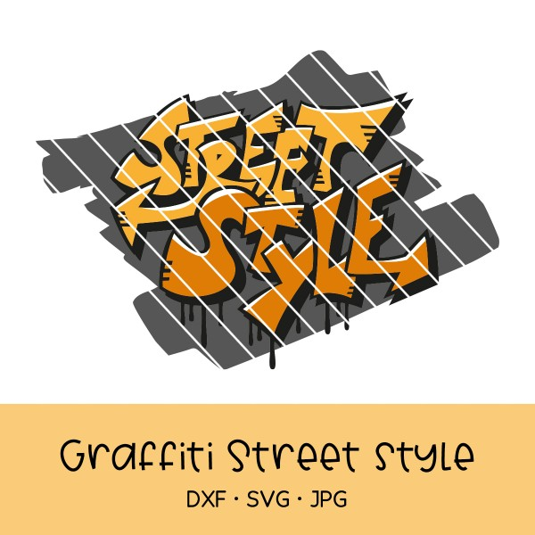 Plotterdatei Street Style in Graffiti-Optik