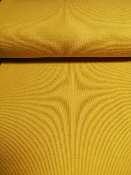 0,5m Bündchen / Strickschlauch senfgelb, 95% Baumwolle, 5% Elasthan