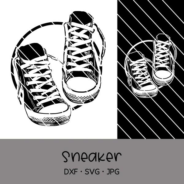 Plotterdatei Sneakers - verschiedene Varianten