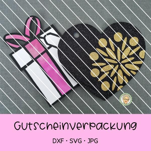Plotterdatei Blitz-Geschenkgutscheinverpackung - für Gutscheinkarten - 2 Versionen