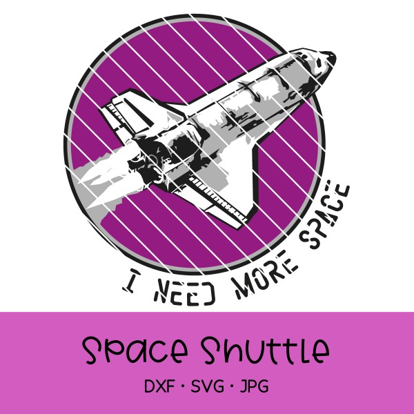 Plotterdatei Space Shuttle / Raumschiff / Rakete