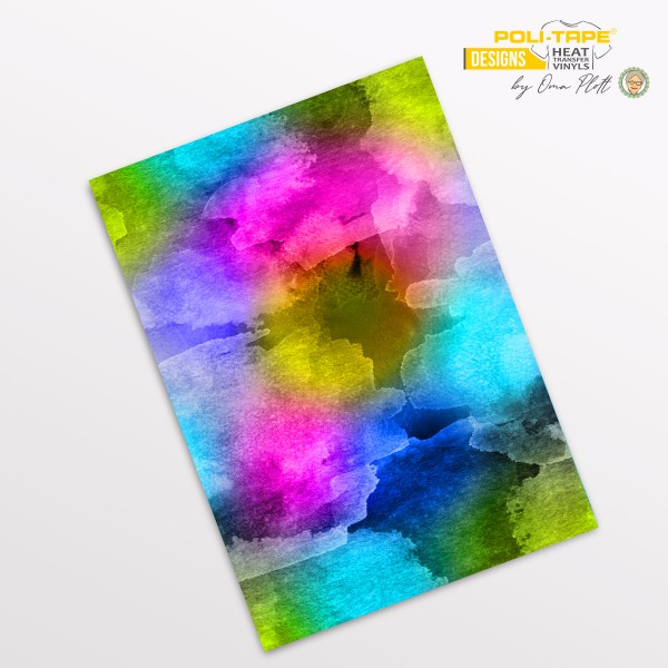 Flexfolie DIN A4 Aquarell Multicolor - POLI-FLEX® Designs by Oma Plott
