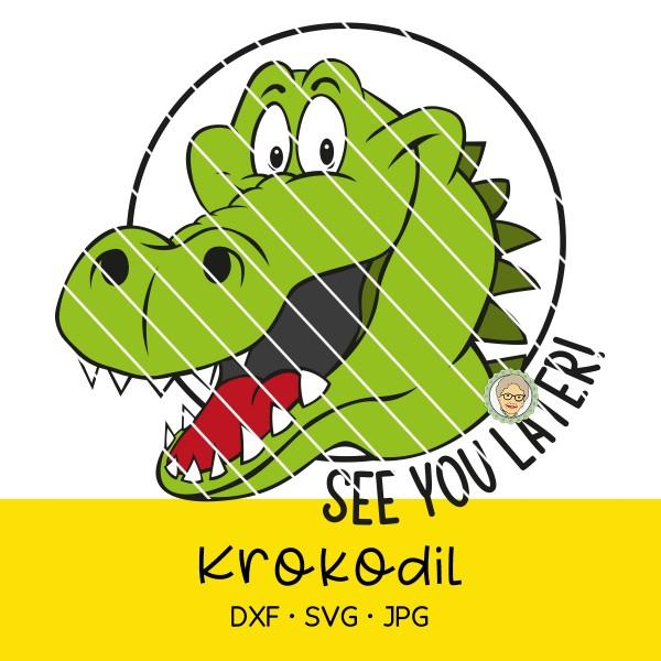 Plotterdatei Krokodil - See you later