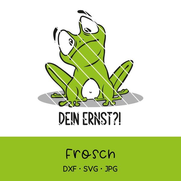 Plotterdatei lustiger Frosch mit verschiedenen Sprüchen