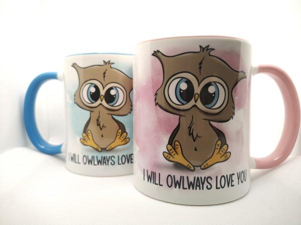 Tasse Valentinstag - I will OWLways love you mit süßer Eule