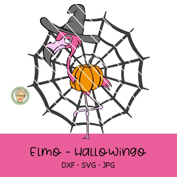 Plotterdatei Elmo Hallowingo - (Halloween Flamingo)