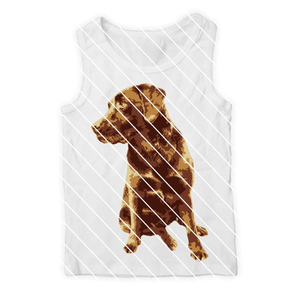 Plotterdatei Hund Labrador von Oma Plott