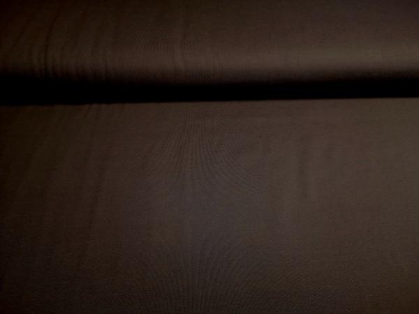0,5m Jersey dunkelbraun, 95% Baumwolle, 5% Elasthan