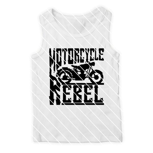 Plotterdatei Motorcycle Rebel mit Motorrad