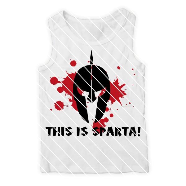 Plotterdatei Spartaner Helm mit Blutspritzern