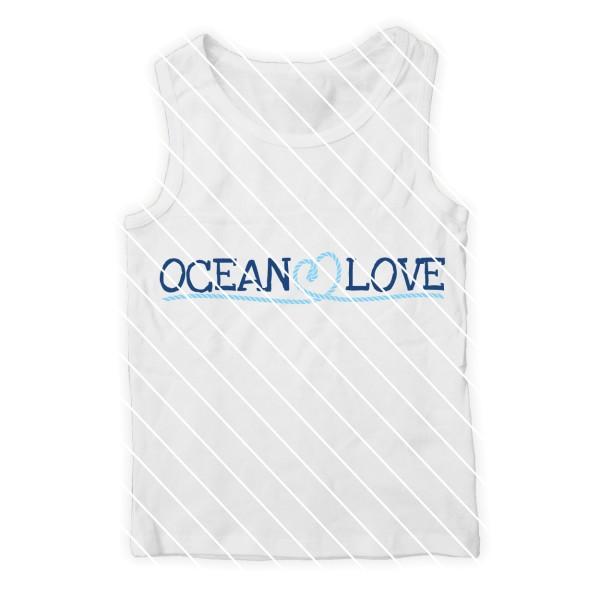 Schneidedatei Ocean Love SVG DXF