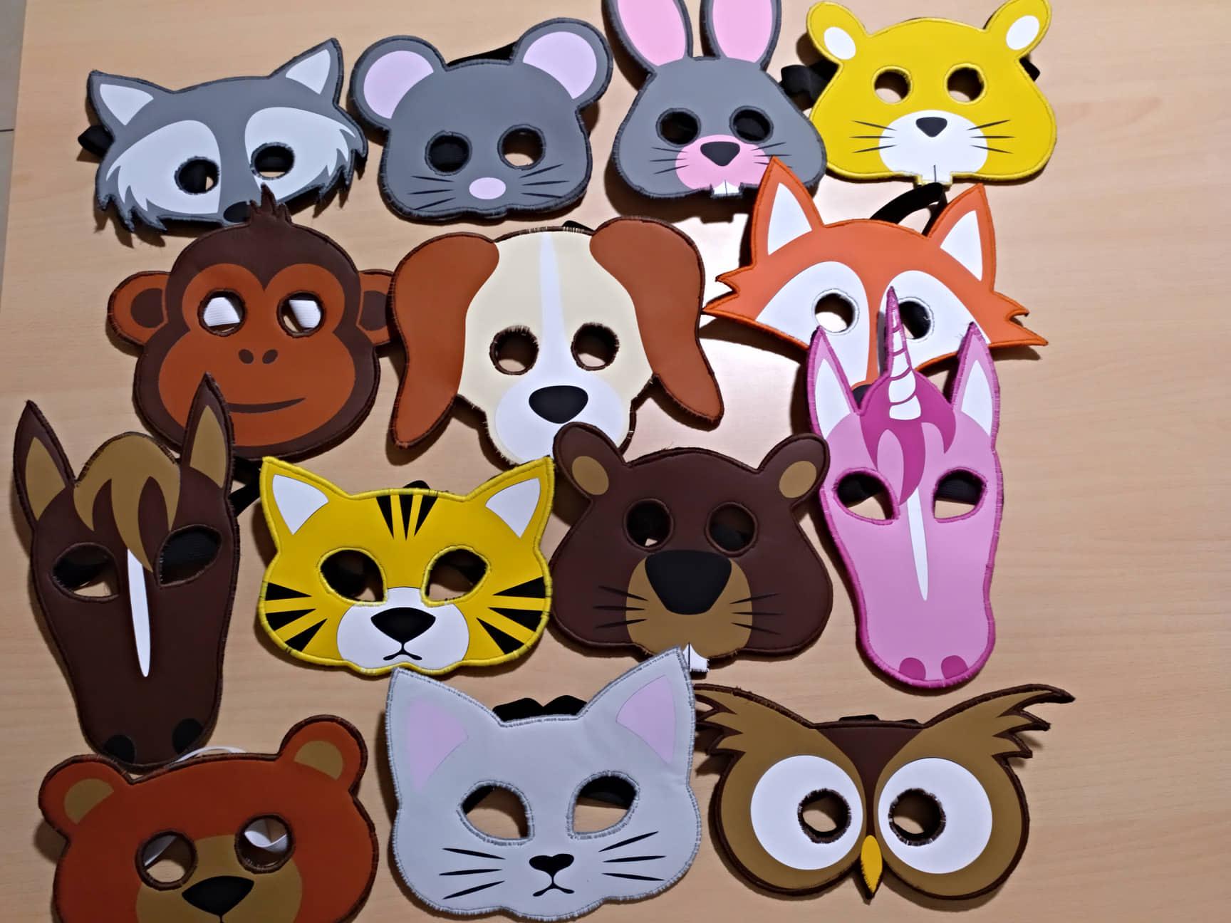 großer Rabatt bieten Rabatte suche nach neuesten Schnittmuster & Plottdatei Tiermasken für Kinder, 14-teilig