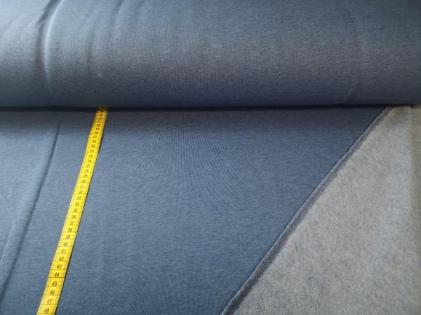 0,5m Sweat rauchblau, 70% Baumwolle, 30% Polyester