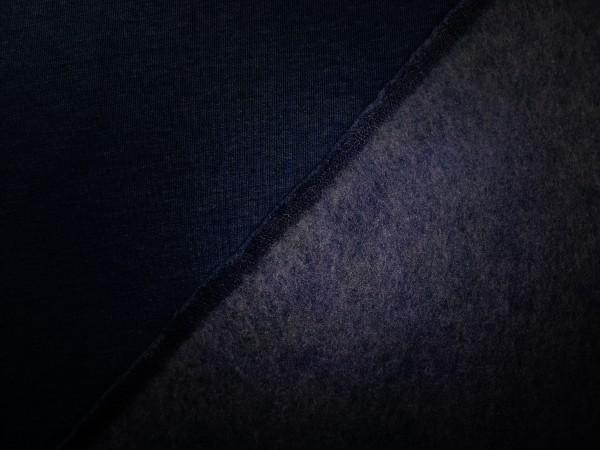 0,5m Sweat dunkelblau, 70% Baumwolle, 30% Polyester
