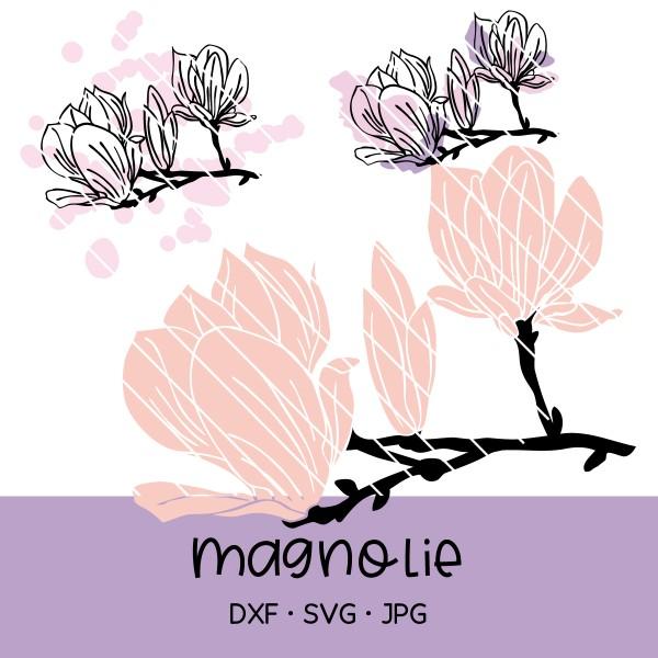 Plotterdatei Magnolie - 3 Versionen