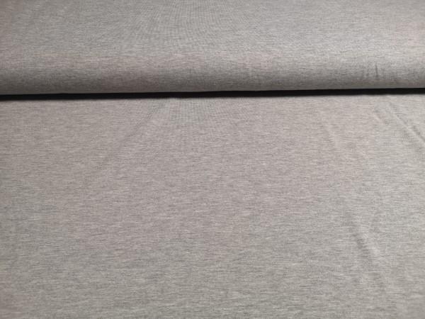 0,5m Jersey grau meliert, 50% Baumwolle, 45% Polyester, 5% Elasthan